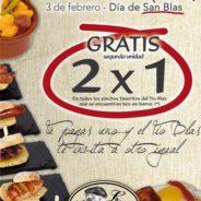 Oferta 2×1 en pinchos por San Blas