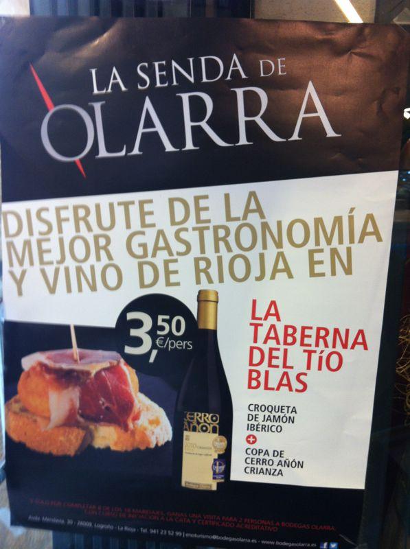 Promoción La Senda de Olarra en La Taberna del Tío Blas
